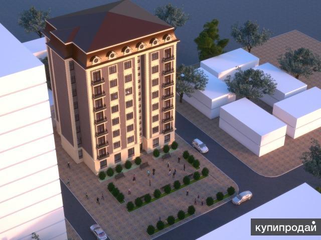 1-к квартира 58 м² на 4 этаже 8-этажного монолитного дома