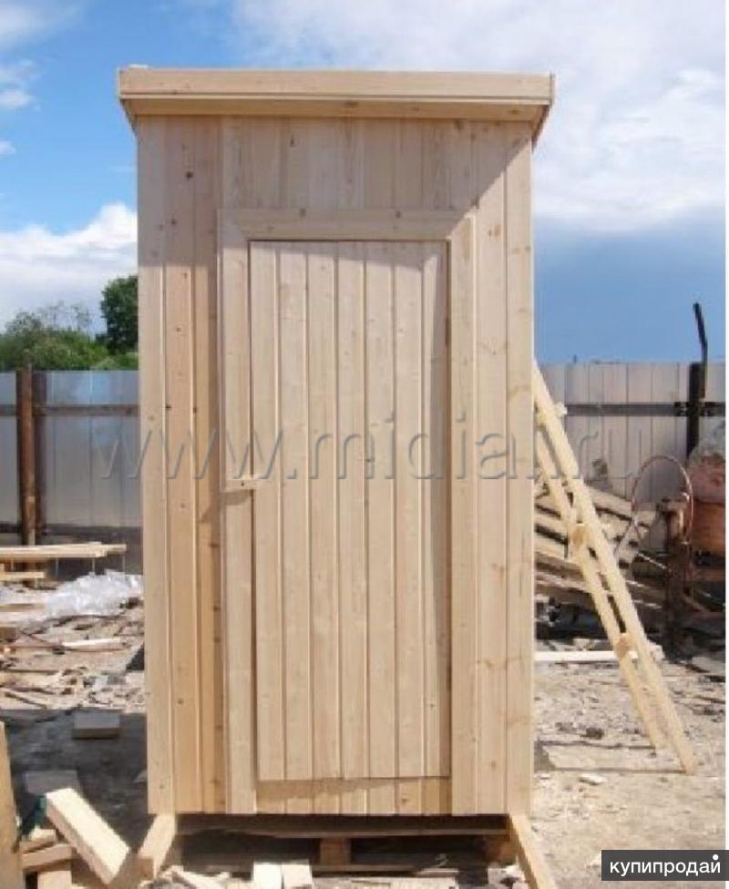 Дачный туалет из вагонки.