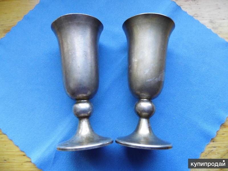 Серебро. 2 серебряные стопки 916 пробы. Винтаж