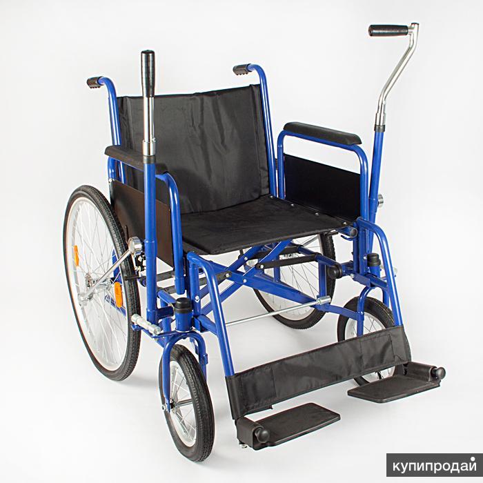 Продаю новую прогулочную инвалидную кресло-коляску с рычажным приводом