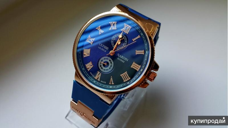 Часы Нардин с синим циферблатом