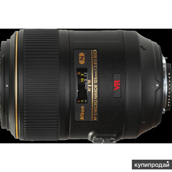 Продам оптику nikkor af s 105mm f 2 8g для Nikon