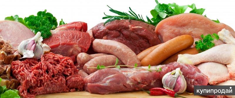 Обрезь свинины и говядины, субпродукты для торговой точки