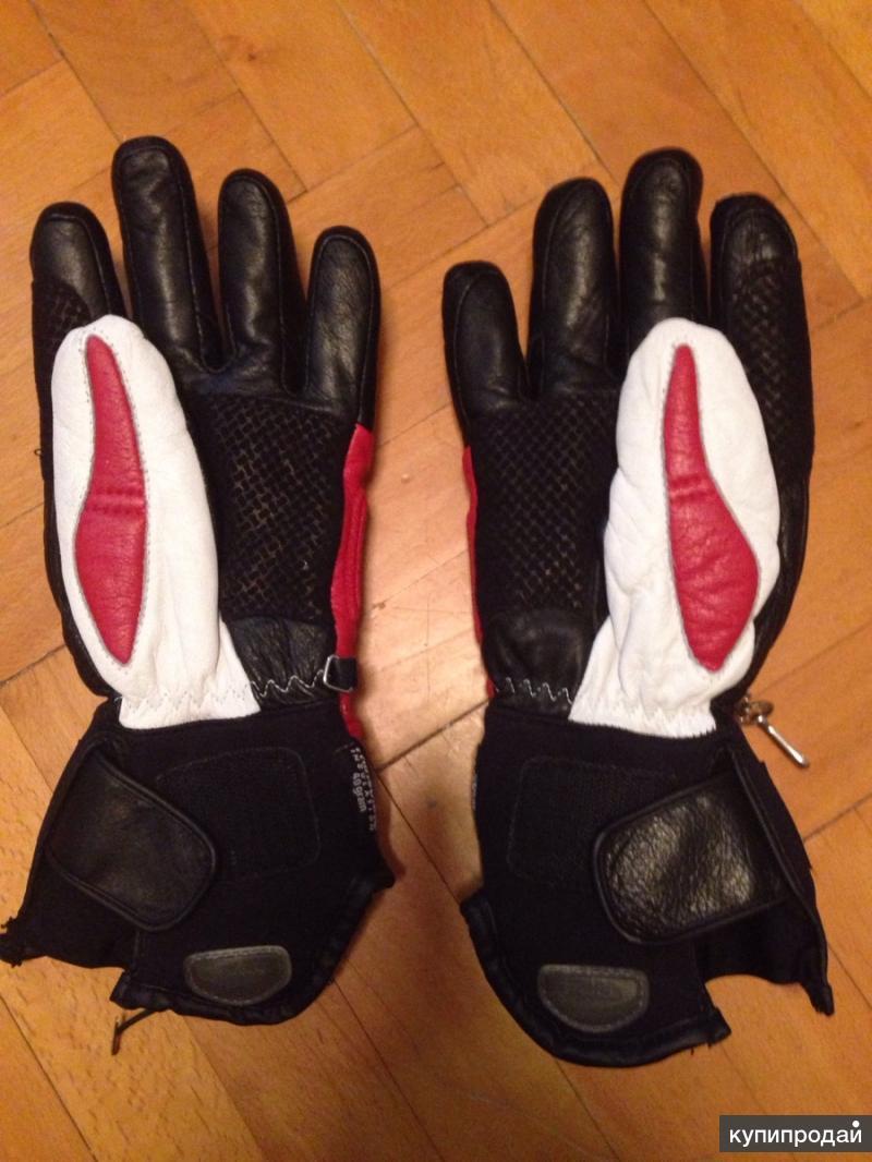 Мотоперчатки кожаные мужские