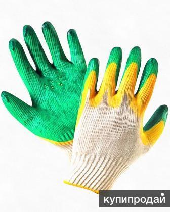 Перчатки ХБ с латексом, 2-ой облив