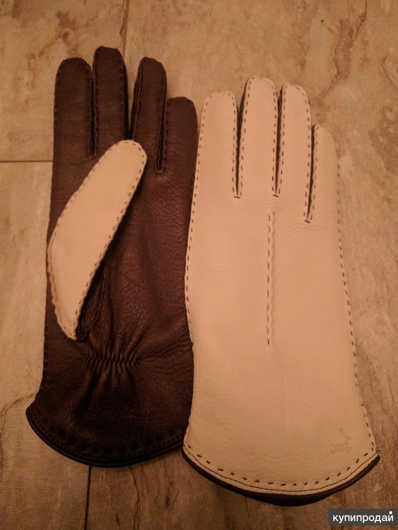 Перчатки из оленьей кожи, фирменные