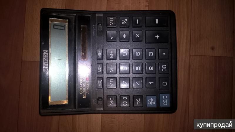 Калькулятор настольный Citizen SDC-888XBL 12-разрядный