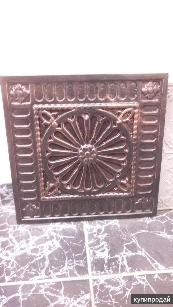 Плитка чугунная напольная, для каминов, производства