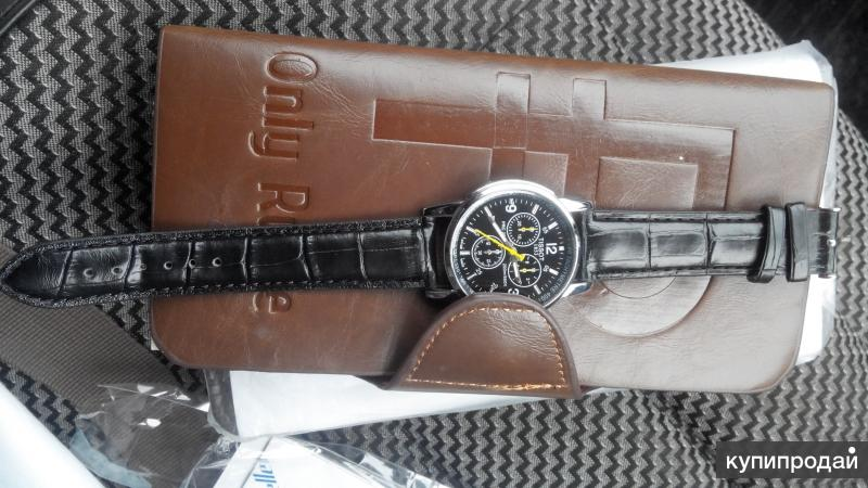 Мужской клатч +часы в подарок