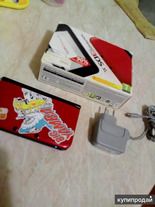 Nintendo 3DS XL Red + адаптер + игры из eShop