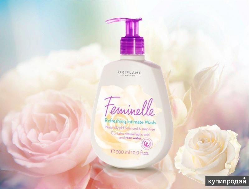 Освежающее средство для интимной гигиены с розовой водой «Феминэль»