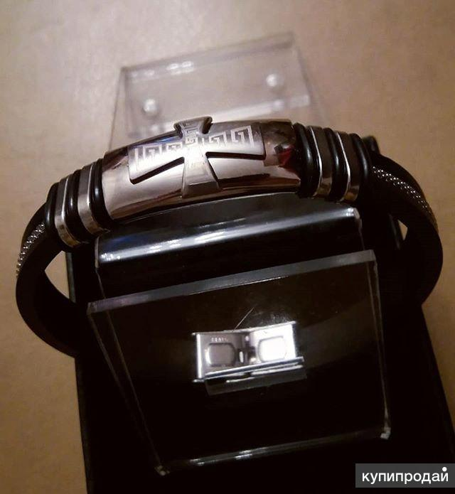 Мужской браслет с крестом Siver Steel RM232
