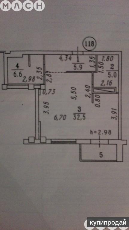 1-к квартира, 50 м2, 6/13 эт. в элитном доме и самом центре города для достойных