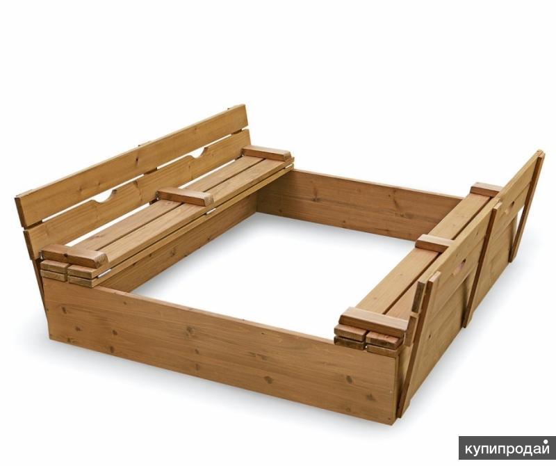 Песочница для детей 150 x 150 х 30 см