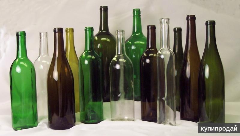 Стеклянные бутылки.