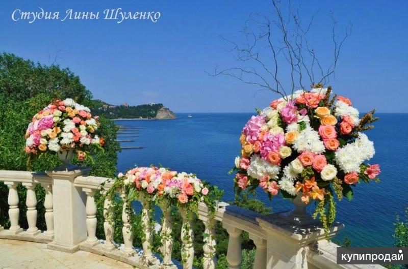 Флорист на свадьбу,свадебный декоратор, оформление свадеб в Симферополе и Крыму.