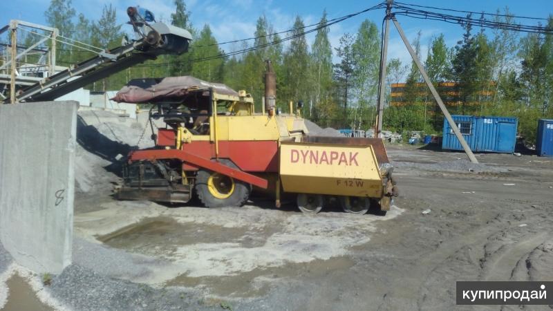 Продается колесный асфальтоукладчик «11011R» DYNAPAC Германия, 1989 г.в.