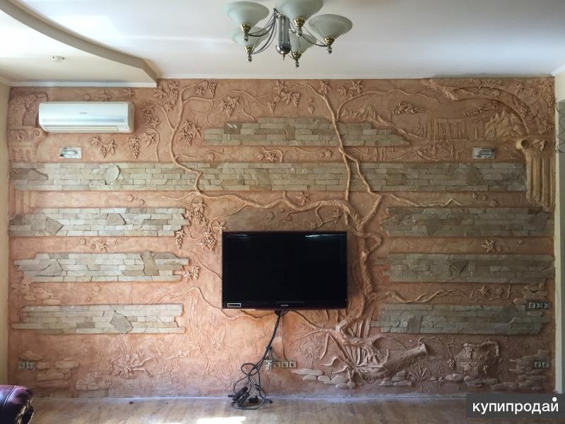 барельеф, врезанные изображения, художественная лепнина, декоративная шпаклевка
