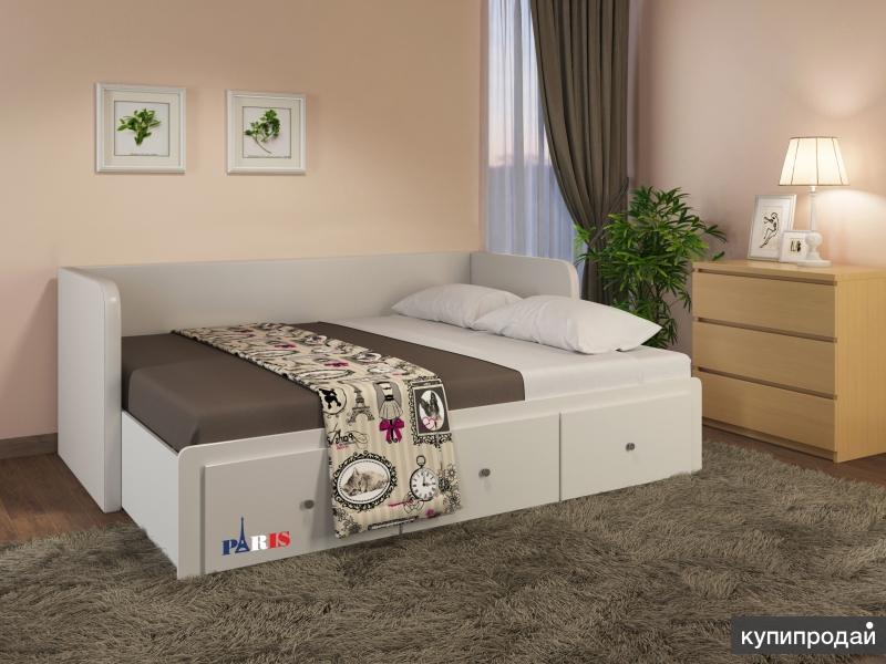 Диван-кровать с тремя ящиками