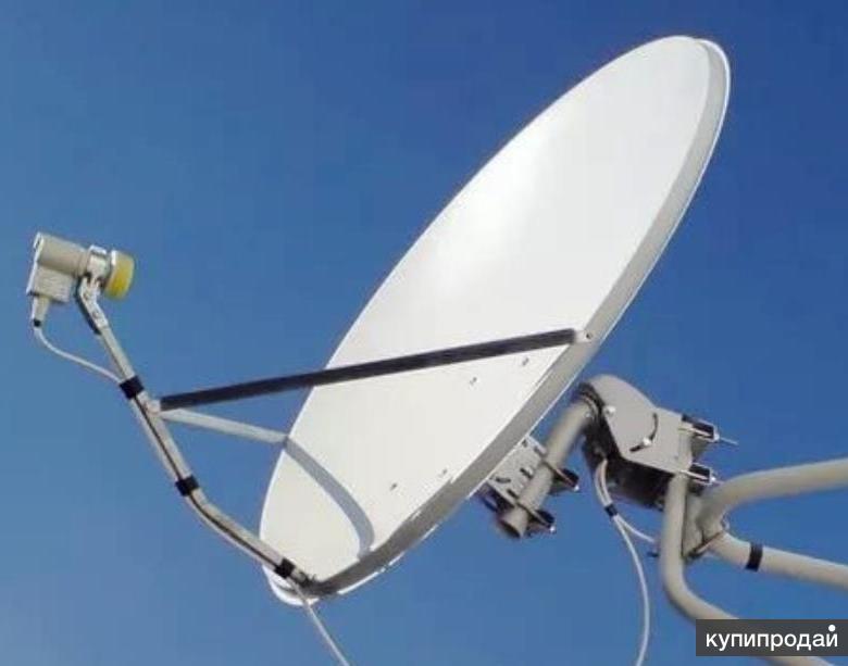 Спутниковая антенна в комплекте приставкой