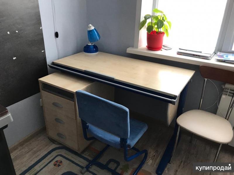Учебный стол+стул+тумба для первоклассника (ДЭМИ-мебель)