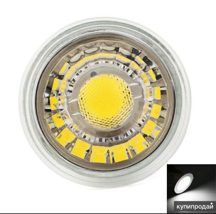 Лампочки LED GU10 3W холодный белый для вытяжки