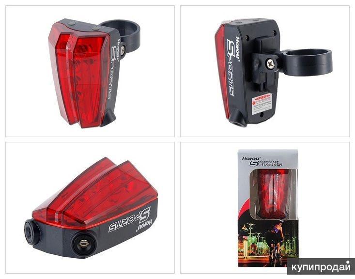 Лазерный велосипедный фонарик (IN Box)