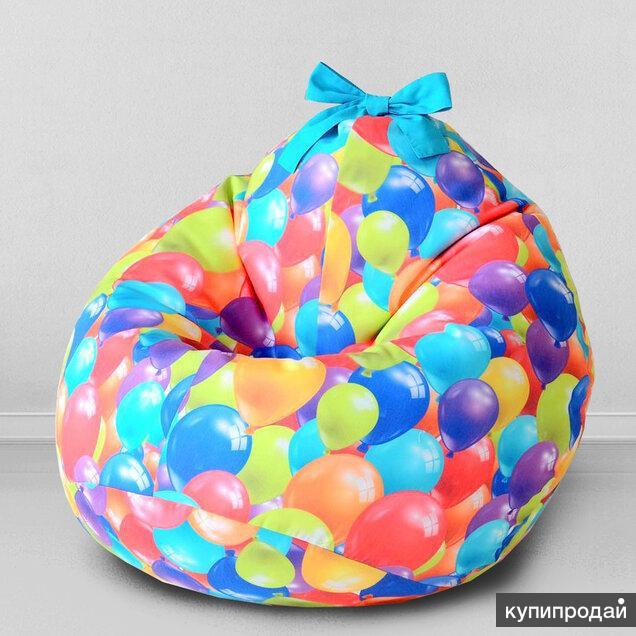 """Детское кресло-груша """"Воздушные шары"""",  магазин Childelune"""