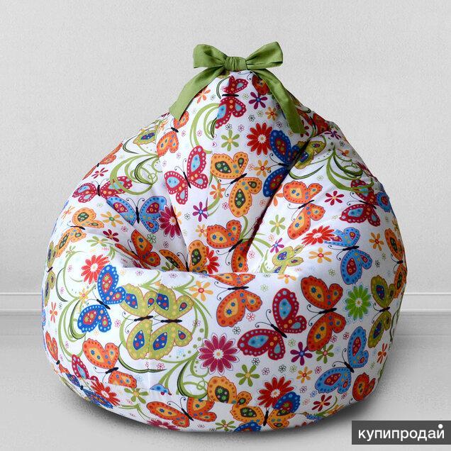 """Новый детский пуфик-мешок """"Бабочки"""", Childelune"""