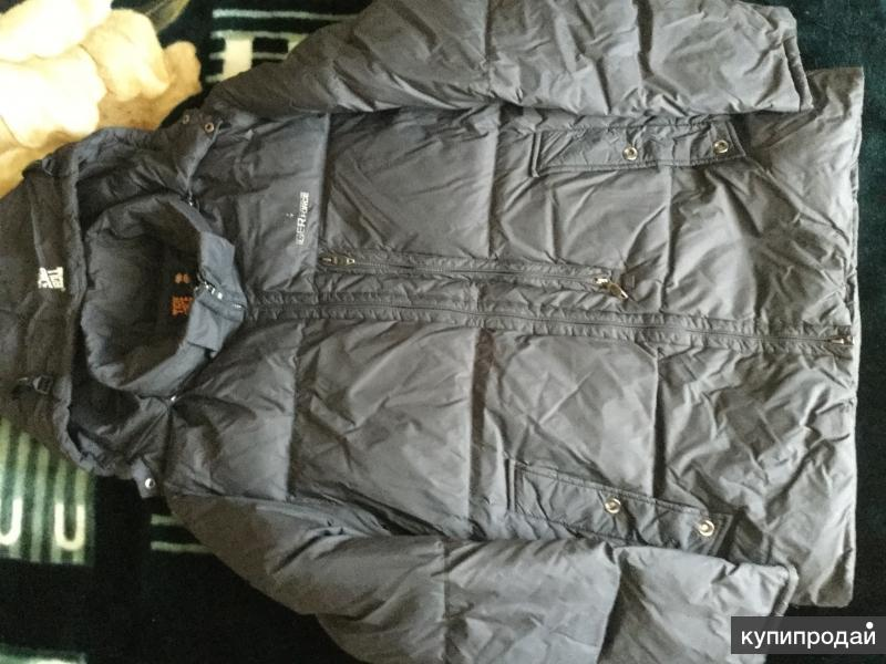 Мужская куртка-пуховик, ветровка, джинсовка, свитер, кофта, р.52-54, бердцы р.42