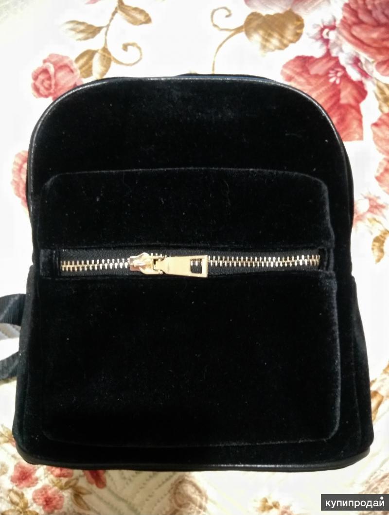 Рюкзак женский молодежный из бархатного материала