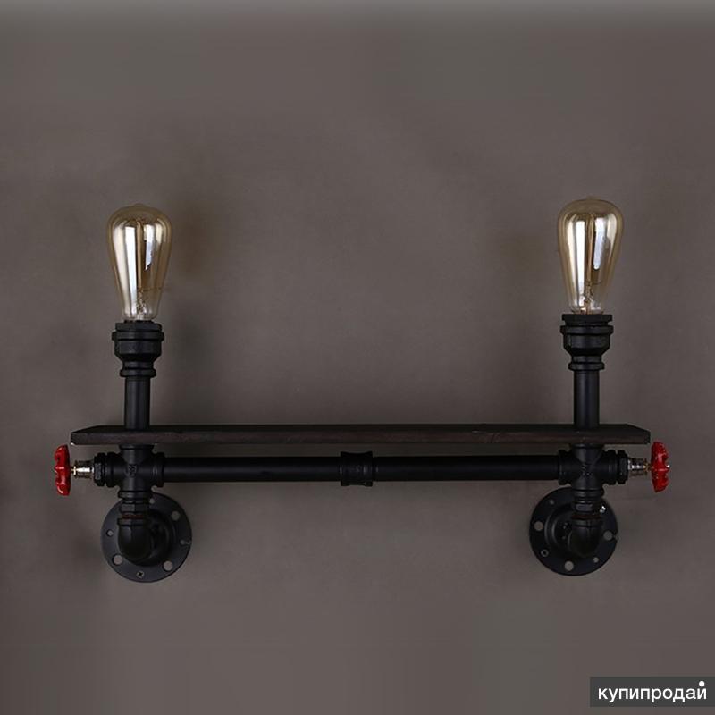 Настенный светильник в стиле лофт индастриал