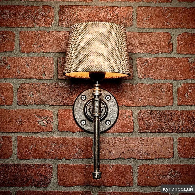 Настенный светильник в стиле лофт из металла