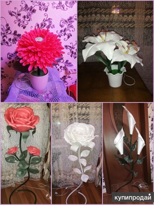 Ростовые цветы-светильники из изолона