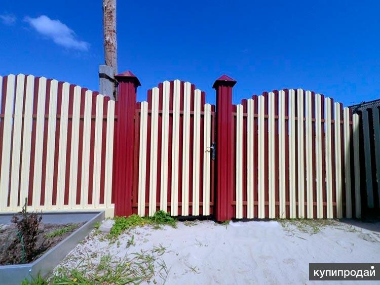 Забор вокруг участка, дома установим