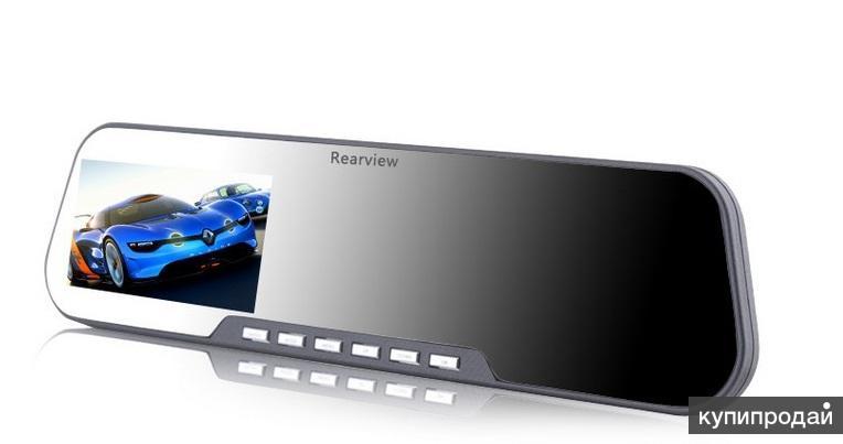 Видеорегистратор зеркало с возможностью подключения камеры заднего вида.