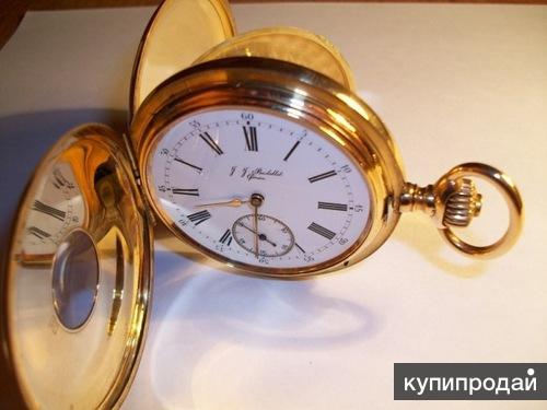 J.J. Badollet 1873г. Женева, Швейцария - Карманные золотые часы с цепочкой 585.