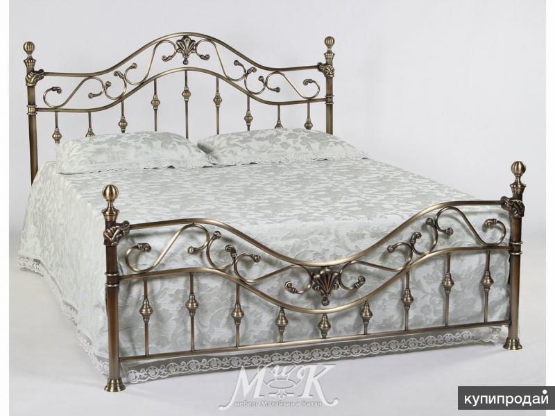 Кровать 9907 L (160*200 см) Античная бронза