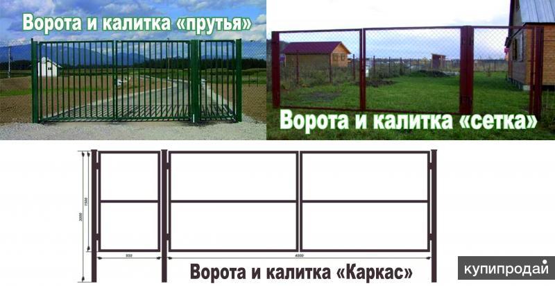 Куплю ворота и калитку из профнастила в тольятти для дачи комплектующие для раздвижных ворот купить