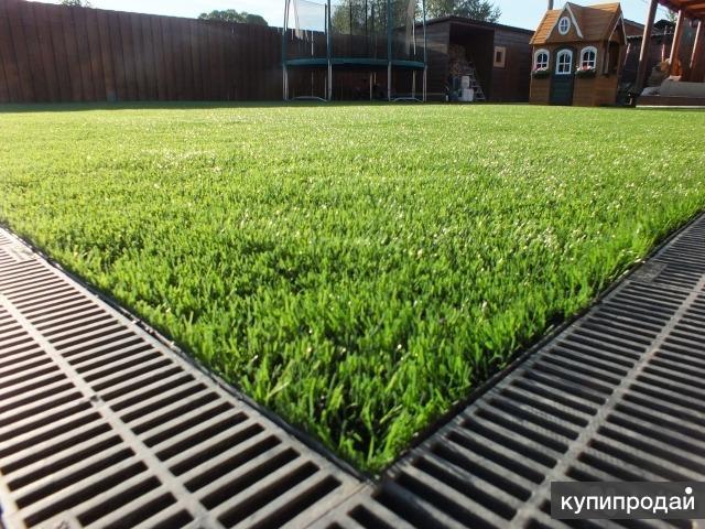 Искусственная трава,наливные и рулонные покрытия