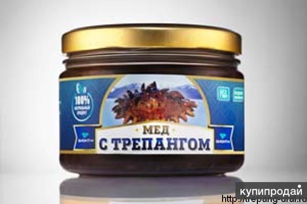 Трепанг с медом (морским огурцом) натуральный продукт от производителя.