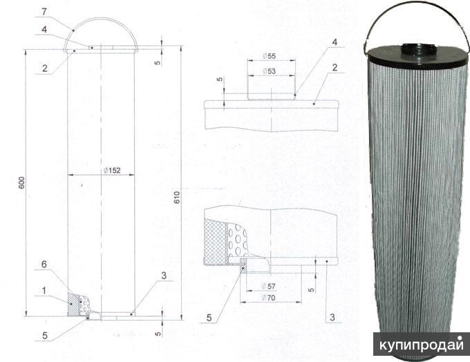 Фильтр ФП-3ПП 2,5 мкм, фильтрующий элемент ФП-3ПП 2,5 мкм