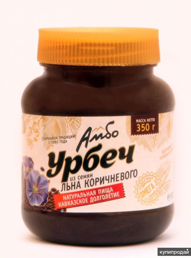 Натуральная паста Урбеч из семян льна