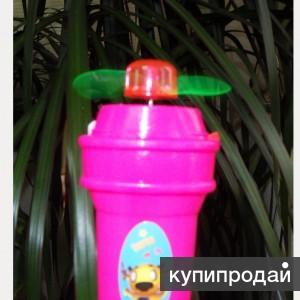 Компактный карманный вентилятор на батарейках Разноцветное мороженое