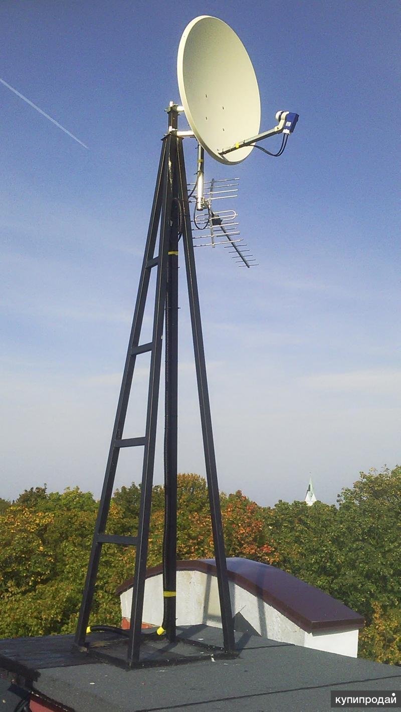 Установка и обслуживание спутниковых и эфирных тв-антенн, усиление сотовой связи