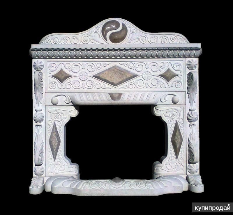 "Камин ""Инь-ян"" из натурального камня"