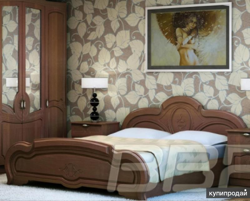 Кровать Сабрина на 1,6 м Орех