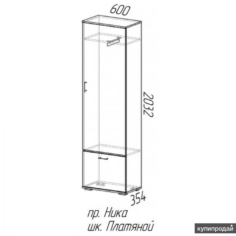 Шкаф платяной Ника Венге/Лоредо