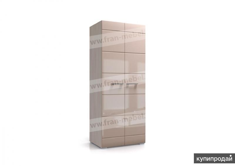Шкаф Нэнси 2-створчатый Шимо светлый/Какао глянец МДФ
