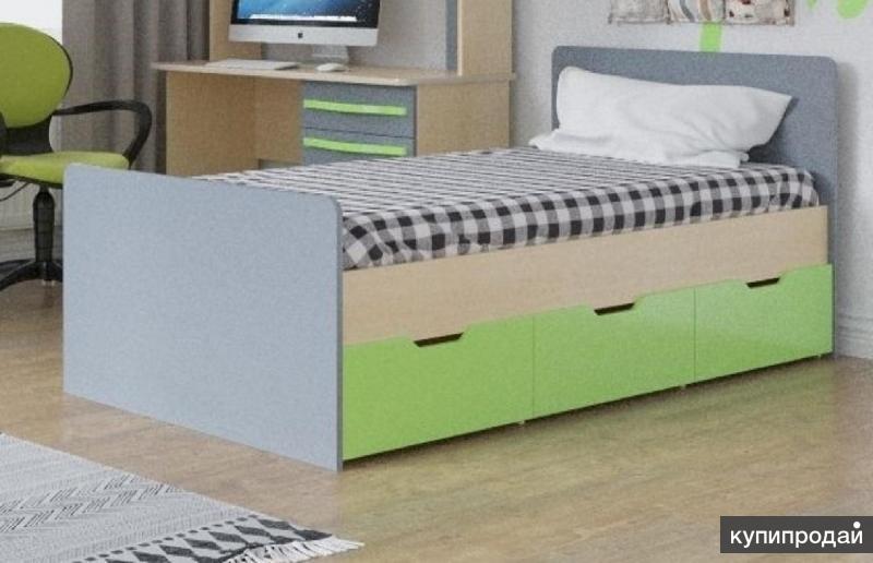 Детская кровать Алекс 1 без ящиков МДФ